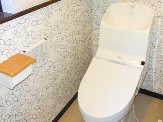 トイレリフォーム 洋式にして使いやすくお掃除もしやすいトイレ
