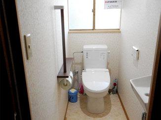トイレリフォーム 手すりが付き安心して使える水洗トイレ